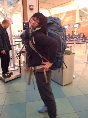 0428 Celina at the airport