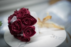 Handmade silk flowers mean the bouquet will last almost forever.