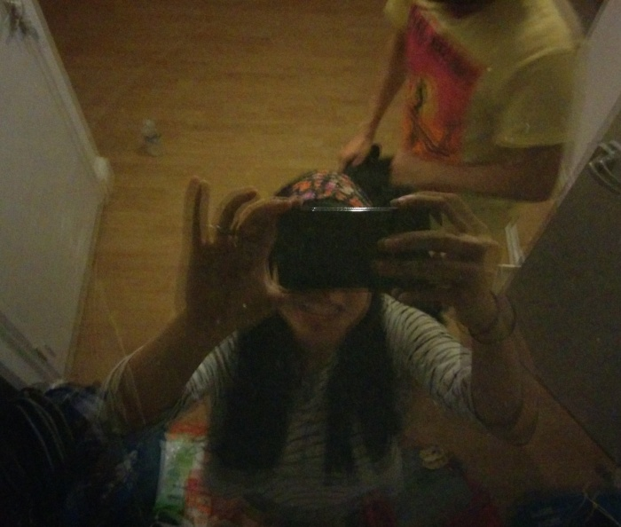 In the reflection of our skylight!