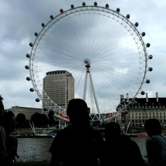 The London Eye across the River Thames.