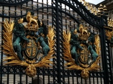 The gates of Buckingham Palace. People were crowded around like you wouldn't believe.