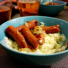 My attempt at bangers and mash.