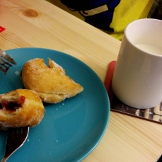 Hands down the best jam donut I've tasted so far, and from our local Sainsbury's.
