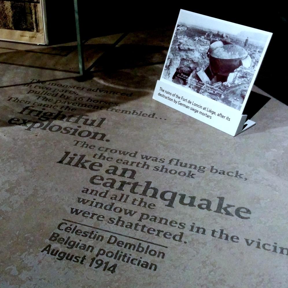Part of the World War One exhibit.