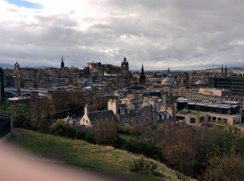 A view of Edinburgh from Calton Hill. Apologies for my finger.