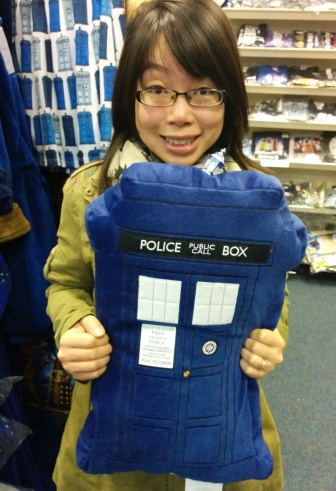 Stuffed TARDIS at The Who Shop
