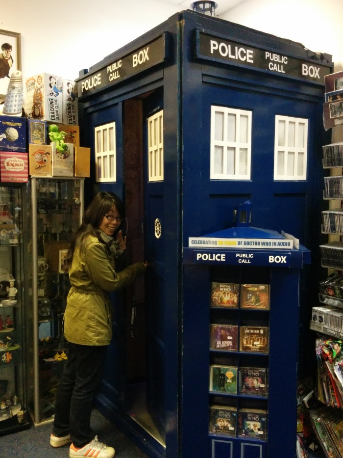 Entering the TARDIS at The Who Shop