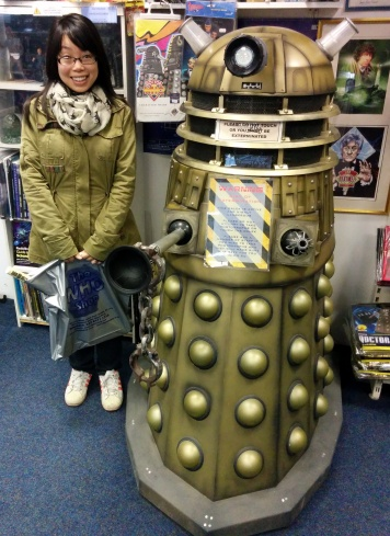 Dalek and me; It was fatter than I thought it'd be!