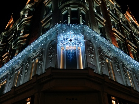 snowflake lights harrods 2014