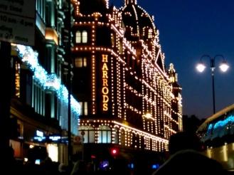 harrods christmas lights 2014