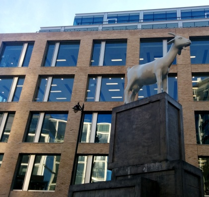 goat statue old spitalfields market