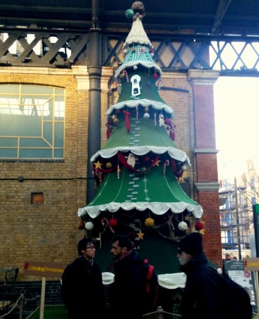 little big planet christmas tree old spitalfields market