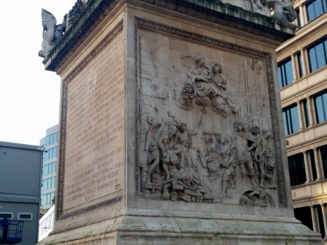 The Monument was built to remember the great fire in London, a blaze that raged on for three full days.