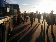 This is the view on London Bridge.
