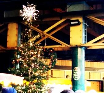 christmas tree at borough market