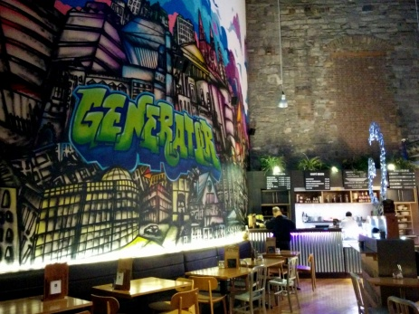 Generator' Hostel's dining area.