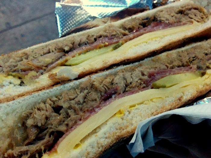 Cuban sandwich at St. George's Market.