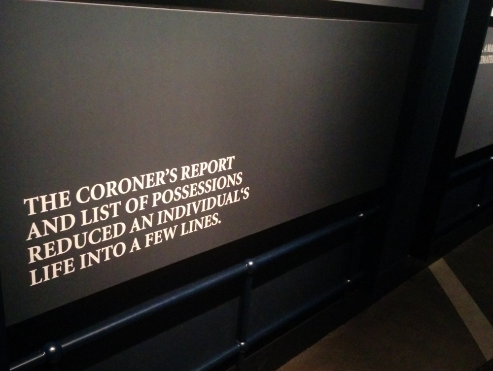 the coroner's report and list of possessions reduced an individual's life into a few lines