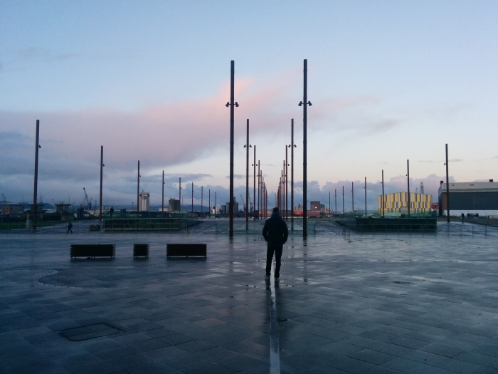 dusk by titanic belfast