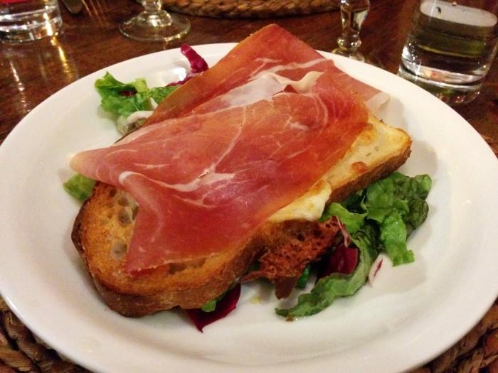 crostini al prosciutto ciao bella roma