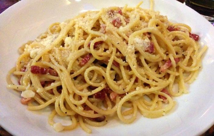 spaghetti carbonara ciao bella roma