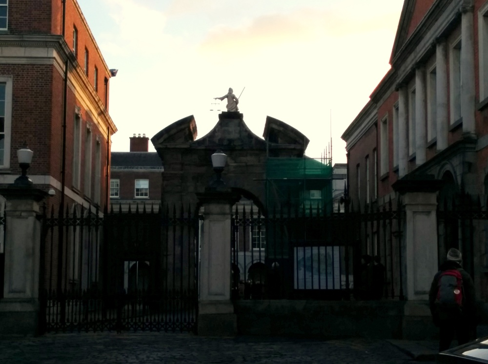 The gates to Dublin Castle.