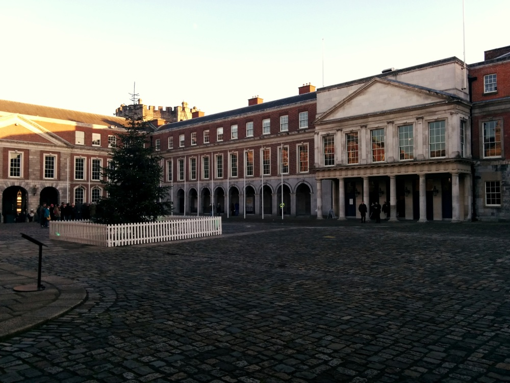 The courtyard of Dublin Castle.