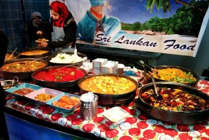 food stall brick lane food market