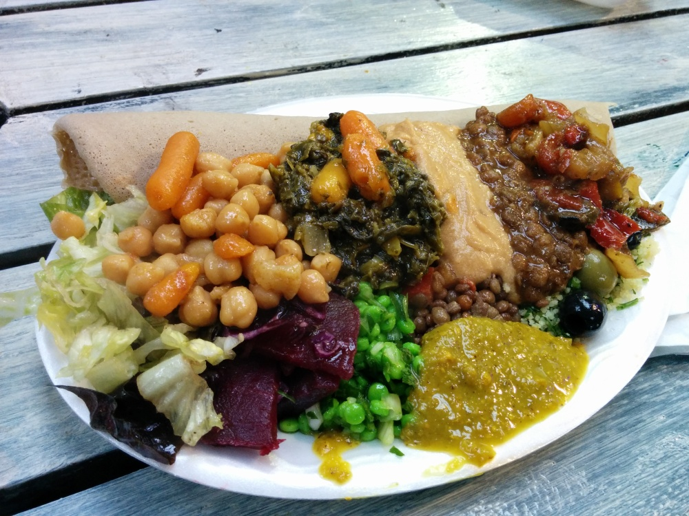 african veggie plate boiler house food hall