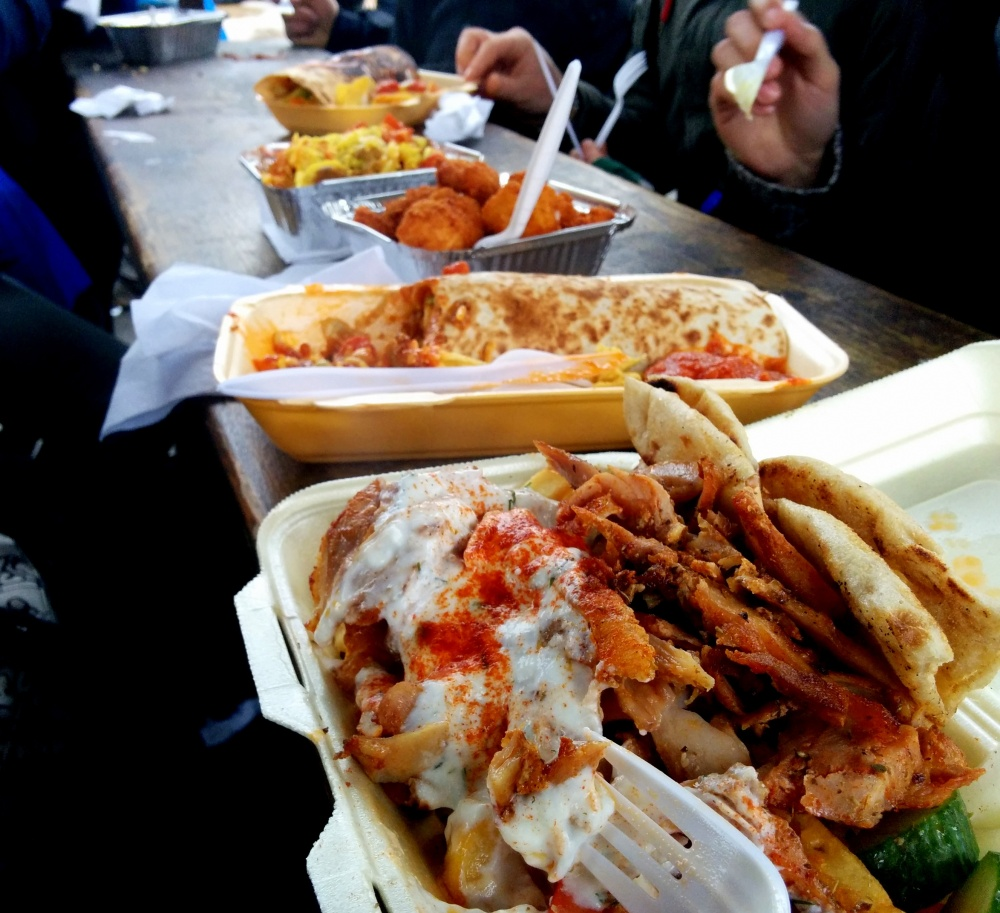 camden town gyros curry taiwanese chicken mexican quesadilla