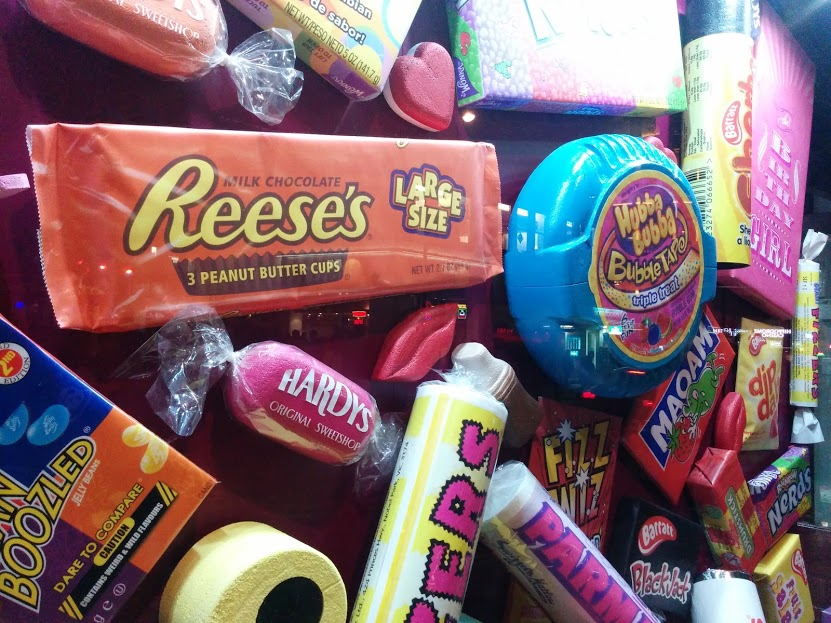 giant candy london england marketing display