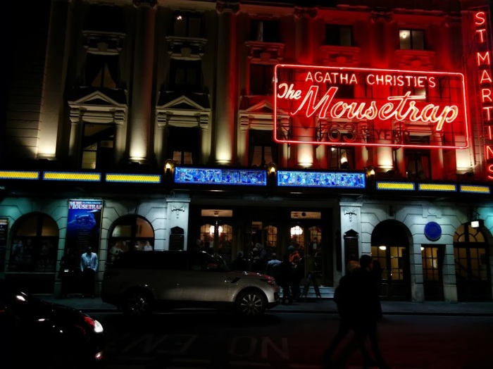 agatha christie the mousetrap play dominion theatre london england