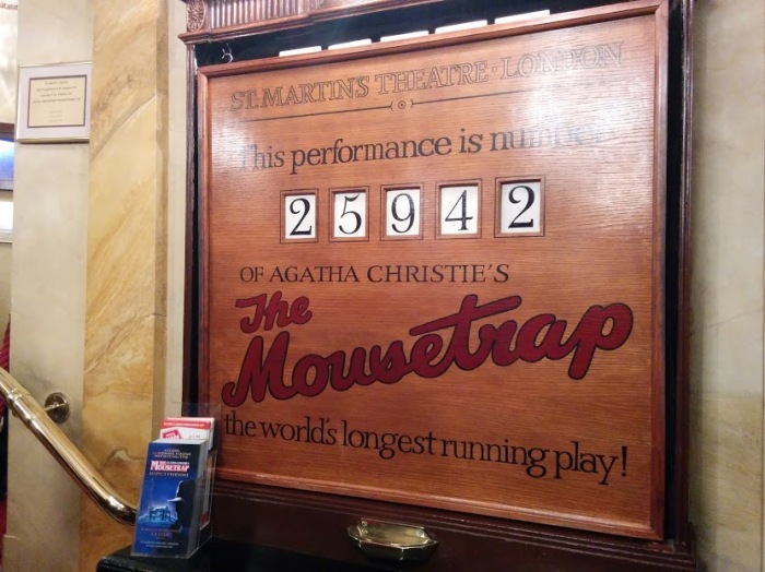 agatha christie the mousetrap dominion theatre london england