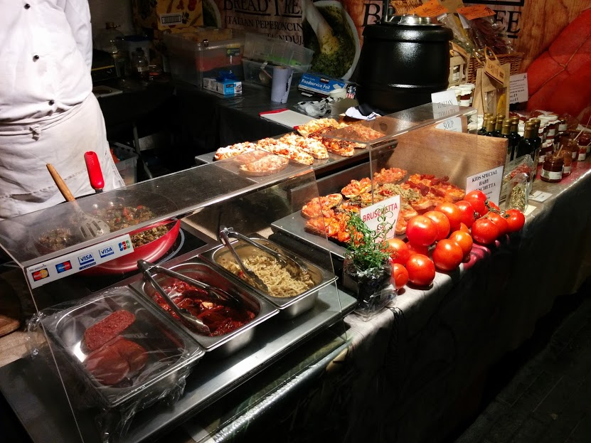 south bank food market london england pizza