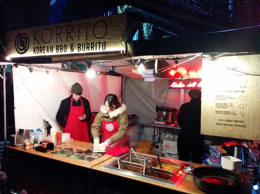 south bank food market london england korrito