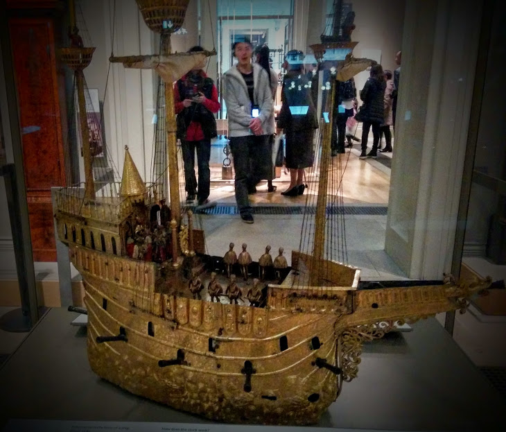 british museum england london mdoel ship