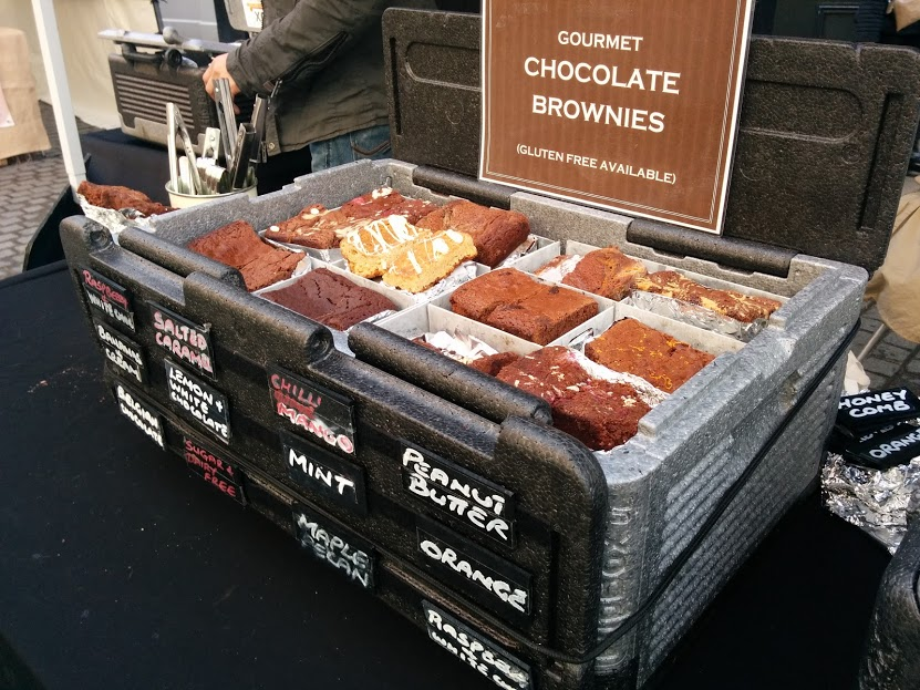 windsor town food market england gluten free chocolate brownies